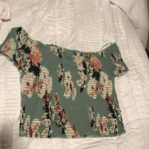 Off the shoulder Kendal and KYLIE shirt